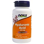 NOW Foods - Hyaluronic Acid with MSM - 60カプセル ヒアルロン酸+MSM