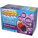 Emergen-C - Vitamin D & Calcium - Mixed Berry(ミックスベリー味) - 8.8g x 30包 【別送料】