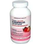 American Health - Acidophilus and Bifidum Chewable Strawberry Flavor - 100 Wafers 【別送料】