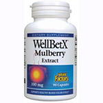 Natural Factors - WellBetX® Mulberry Extract 100mg - 90カプセル マルベリー