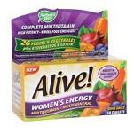 Nature's Way -  Alive!, Women's Energy Multivitamin/Multimineral - 50錠 アライブ女性用エナジーマルチビタミン