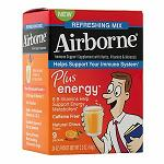 Airborne Plus Energy, Packets, Natural Citrus - 0.24 oz (7g) x 9 包