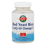 KAL - Red Yeast Rice, CoQ10, Omega 3 - 60ソフトジェル