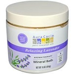 Aura Cacia - Aromatherapy Mineral Bath, Relaxing Lavender - 16 oz (454 g)【別送料】