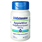 Life Extension(# 01625) - AppleWise, Polyphenol Extract 600 mg - 30 カプセル アップルワイズ