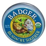 Badger Company - Headache Soother, Peppermint & Lavender - 1 oz (28 g) バジャー 頭痛用アロマ