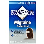WellPatch Migraine Cooling Patch - 4パッチ ウェルパッチ 偏頭痛用クーリングパッチ