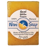 Hawaii Nutrition Co.- Noni Soap Kukui&Macadamia Oils Lemongrass Lime - 4oz