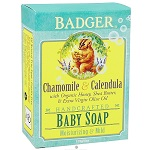 BADGER - Handcrafted Baby Soap Chamomile&Calendula - 4oz(112g)【別送料】 バジャー ベビーソープ