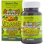 Nature's Plus - Animal PARADE Kid Greenz Tropical Fruit Flavor - 90チュアブル錠