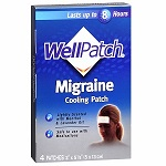 WellPatch® Cooling Migraine Patch, Menthol & Lavender Oil - 4枚 ウェルパッチ クーリングマイグレイン