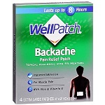 WellPatch® Backache Pain Relief Patch - 4枚 ウェルパッチ 腰痛用パッチ 【別送料】
