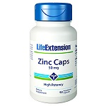 Life Extension(# 01813)- Zinc Caps 50mg High Potency - 90カプセル 亜鉛