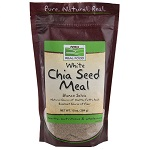 NOW Foods Real Food® White Chia Seed Meal - 10 oz (284g) 【別送料】ホワイトチアシード
