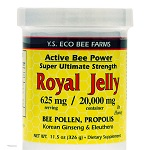 Y.S. Organic Bee Farms - Active Bee Power Royal Jelly 625mg w/ Korean Ginseng & Eleuthero - 11.5 oz(326g) 【別送料】 UPC:726635430431