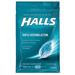 Halls Triple Soothing Action Ice Peppermint - 30ドロップ ホールズ アイスペパーミント 【別送料】