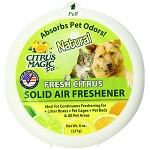 Citrus Magic Pet Odor Absorbing Solid Air Freshener, Fresh Citrus - 8-Ounce(227g) シトラスマジックエアーリフレッシュナー