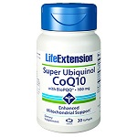 Life Extension(# 01733) - Super Ubiquinol CoQ10 with BioPQQ®  100 mg - 30 ソフトジェル