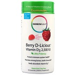 Rainbow Light - Berry-D-Licious™ Vitamin D3 Juicy Raspberry 2500 IU - 50 Gummies