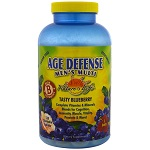 Nature's Life - Age Defense Men's Multi, Tasty Blueberry -120 チュアブル錠【別送料】